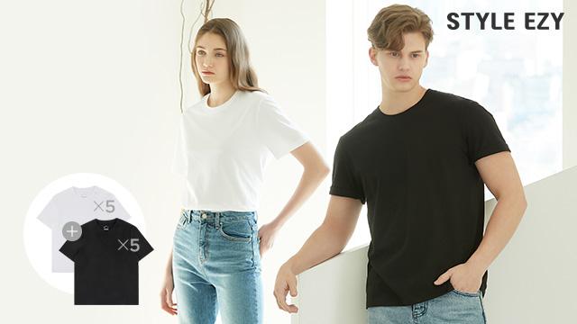 스타일이지 런칭! 오가닉 티셔츠 10장이 38900원! 무료배송 까지!