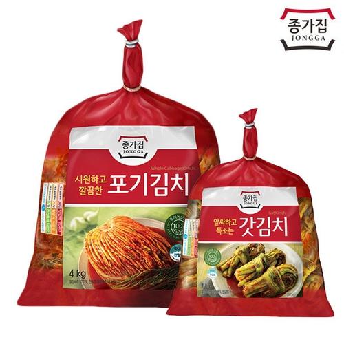 종가집 포기김치 4kg + 갓김치 1kg