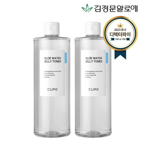 [김정문알로에] 큐어 젤리 토너 500ml 2개 [2x미니(2)]