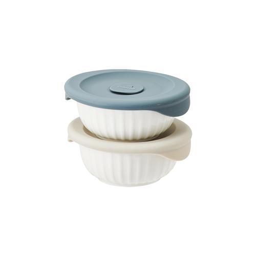 [본사] 락앤락 바로한끼 도자기 밥용기 250ml 2개세트 (SLB301S2)