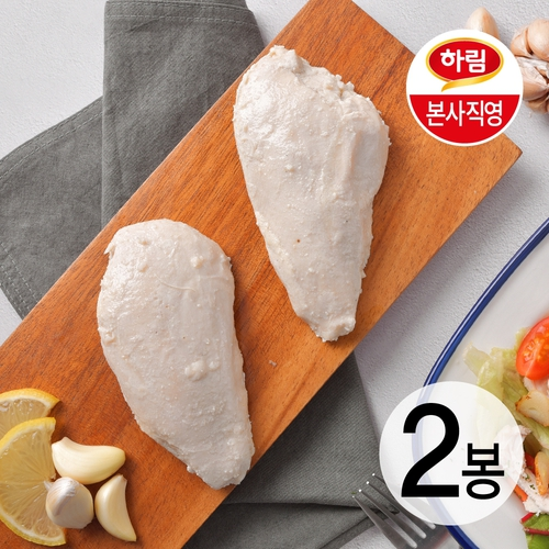 [하림 본사직영] 하림이닭 저염닭가슴살 갈릭 100g 2팩