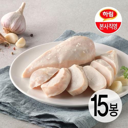 [하림 본사직영] 하림이닭 저염닭가슴살 갈릭 100g 15팩
