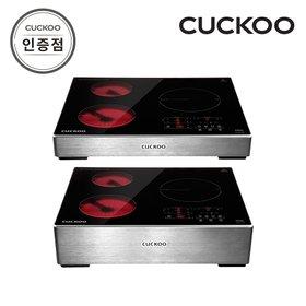 쿠쿠 CIHR-A301FB 하이브리드 3구 전기레인지