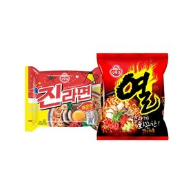 오뚜기 진라면 10봉 + 열라면 10봉/총20봉