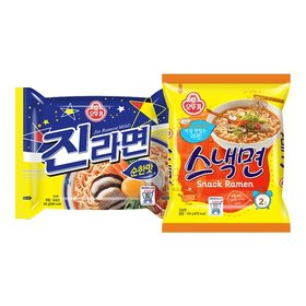 오뚜기 진라면 순한맛 10봉 + 스낵면 10봉/총20봉