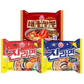 오뚜기 진라면 10봉 + 짜장면 8봉/해물짬뽕