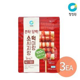 청정원 소떡소떡 소시지랑 떡이랑 440g (100gx4개입) x 3개