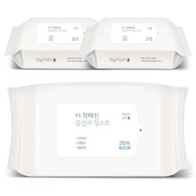 데일리워터 더 착해진 물걸레청소포 대형 리필 3팩(90매)