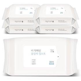 데일리워터 더 착해진 물걸레청소포 대형 리필 5팩(150매)