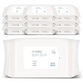 데일리워터 더 착해진 물걸레청소포 대형 리필 10팩(300매)