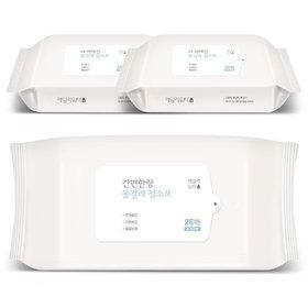데일리워터 더 착해진 물걸레청소포 특대형 리필 3팩(75매)