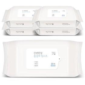데일리워터 더 착해진 물걸레청소포 특대형 리필 5팩(125매)
