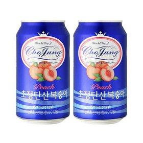 초정탄산 복숭아 350ml 24캔