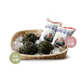 해초국수 26봉 + 소스 2종 26봉 (비빔, 모밀)