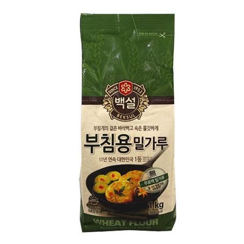 [새벽배송][우리가락]CJ 백설 부침용밀가루 1kg