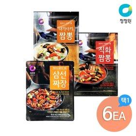 청정원 짬뽕분말 직화/나가사키 x 택4 + 삼선짜장분말80gx2개