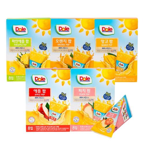 돌후룻팝 40팩(피치8팩+애플8팩+오렌지8팩+망고8팩+파인애플8팩)