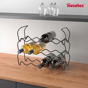 메탈텍스 와인바 적재형 와인거치대 라바 블랙