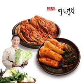 [식품명인 유정임] 포기김치5kg+총각김치3kg