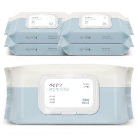 데일리워터 물걸레청소포 특대형 캡형 5팩(125매)